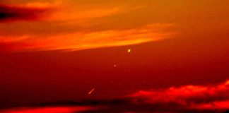 Aplicando filtros a la imagen puede verse de mejor manera el fenómeno presentado en el cielo de Avaré. Crédito: Aquilino Cesar