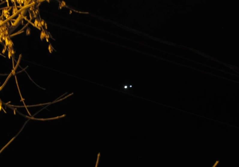 Fotografía de la conjunción de Venus y Júpiter. Tomada en Villaguay, Entre Ríos, Argentina. 1 de julio (2015)