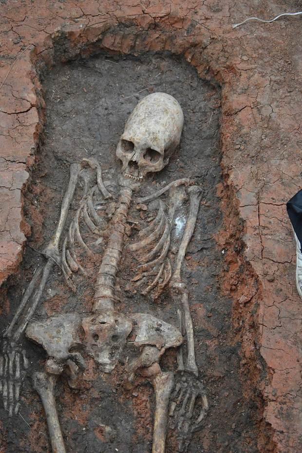 Esqueleto hallado en Arkaim.