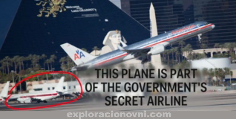 El Gobierno de Estados Unidos mantiene una aerolínea bajo estricto secreto. presuntamente transportaría personal a bases secretas en Nevada, Las Vegas.