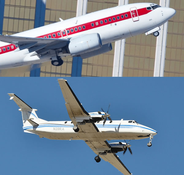 Aviones sin marcas pertenecientes a la misteriosa aerolínea de Estados Unidos. ¿Qué se esconde?