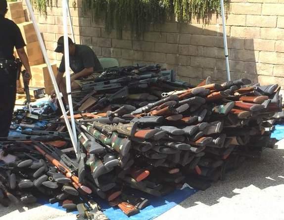 5 millones de dólares en armas fueron encontradas.