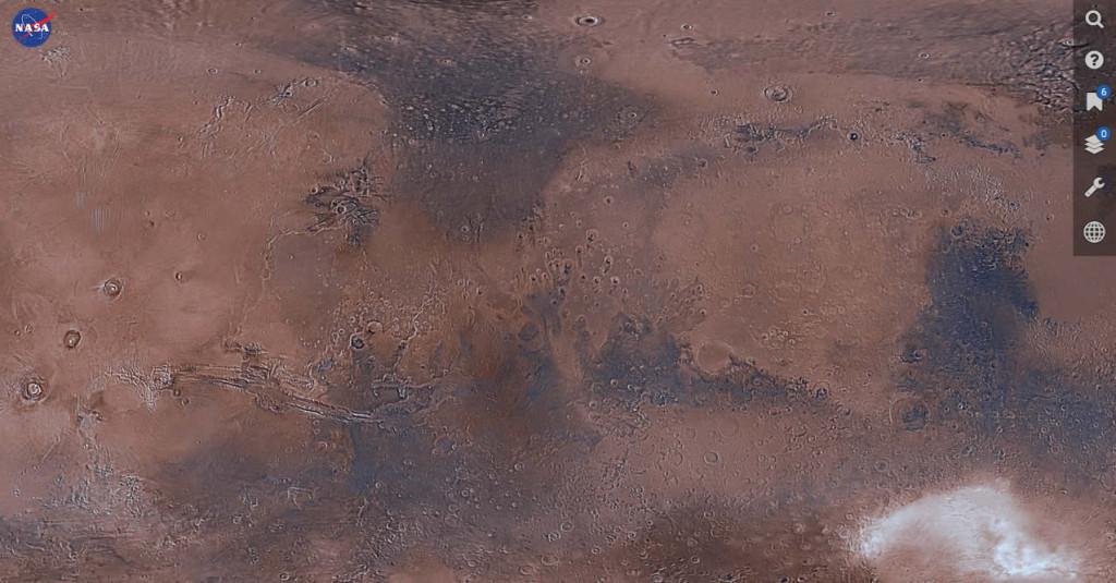 Un vistazo a la aplicación Mars Trek.