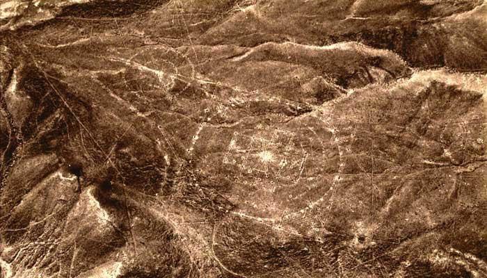 El 'mandala' es uno de los 24 geoglifos descubiertos en Nasca, Perú.