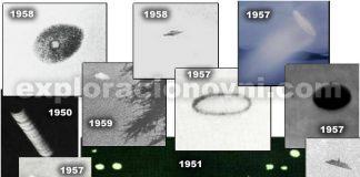 OVNIs fotografiados en década de 1950.