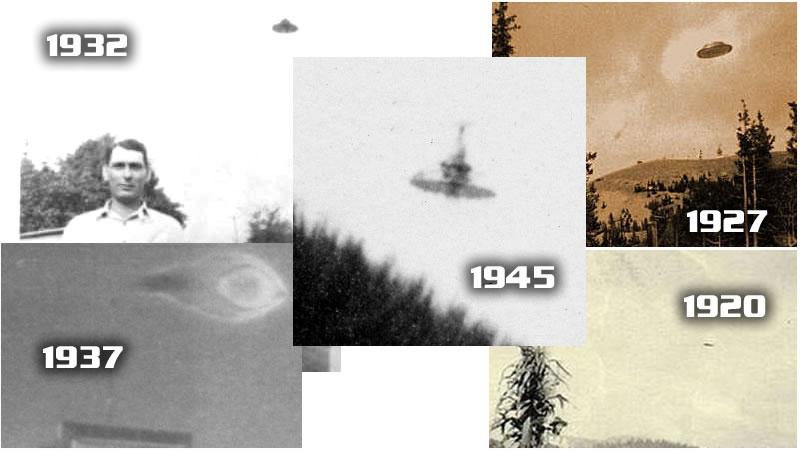 Existen innumerables evidencias fotográficas de OVNIs previas al año 1950.