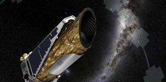 Representación artística del Kepler, nave espacial caza planetas de la NASA.