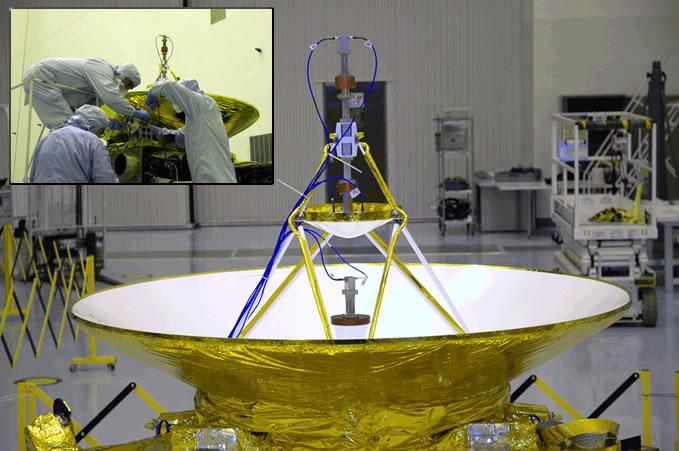 La nave New Horizons, desplazándose por el espacio a una velocidad superior a la de cualquier otro objeto hecho por el hombre.