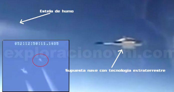 Supuesta nave construida con tecnología extraterrestre perteneciente a un vídeo filtrado.