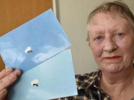 Sandra Stuteley fotografió un objeto volador desconocido en Inglaterra.