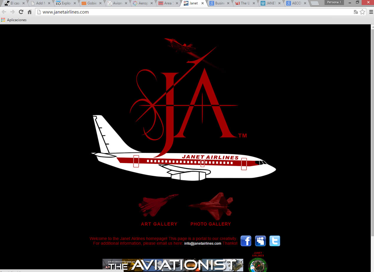 Sitio web de janetairlines.com