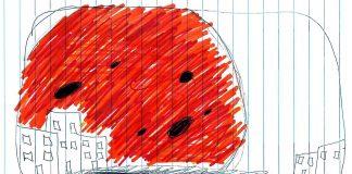 En total tres testigos aseguran haber visto algo en el cielo similar a un enorme planeta rojo / naranja que ocupaba casi todo el horizonte.