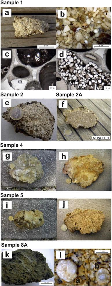 nálisis macroscópico y microscópico de muestras de rocas