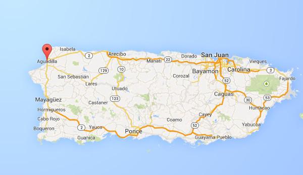 El objeto fue filmado sobre el Aeropuerto Rafael Hernández en Aguadilla, Puerto Rico.