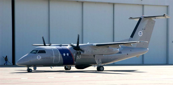 El US Customs and Border Protection Bombardier DHC-8Q200.