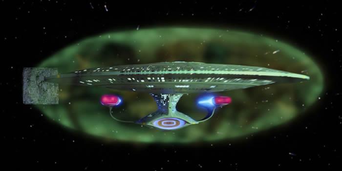 Star Trek! Al igual que en la ficción, el escudo magnético del CERN protegería a las naves espaciales de la radiación espacial.