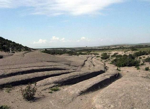Marcas en el Valle de Frgia, Turquía tienen 14 millones de años de antigüedad.