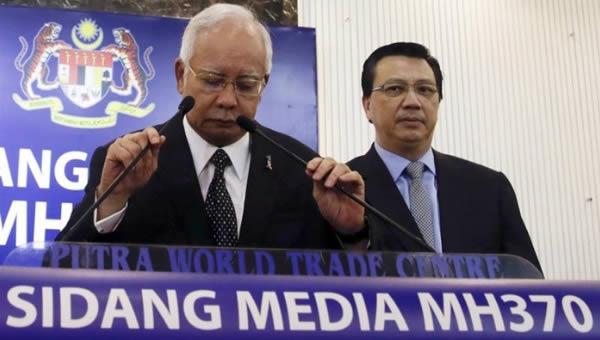 El primer ministro de Malasia, Najib Razak, lamentó que finalmente haya evidencias físicas del vuelo MH370. | Foto: EFE