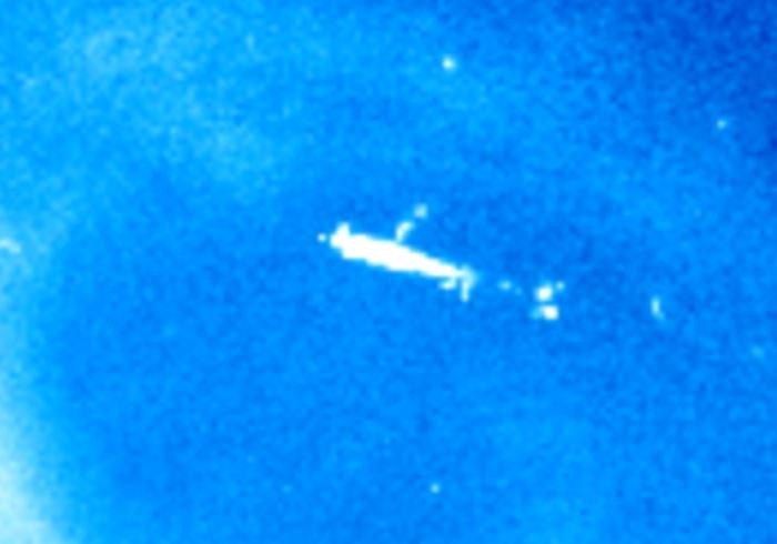 Imagen 2. Sorprendente anomalía captada cerca del Sol.