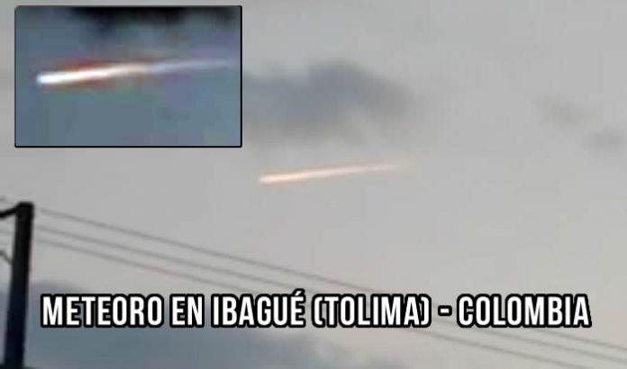Meteoro grabado en vídeo en Ibagué, Tolima, Colombia