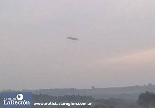 Objeto volador desconocido fotografiado en Apóstoles, Argentina