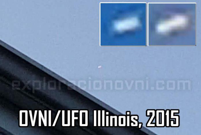 Impresionante OVNI en movimiento grabado sobre Illinois (EE.UU.), muy cerca de un aeropuerto