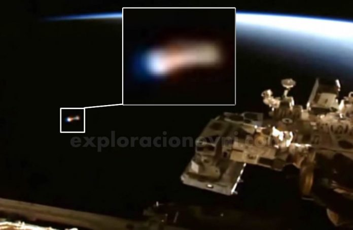 Anomalía captada en vivo por la cámara de la ISS.