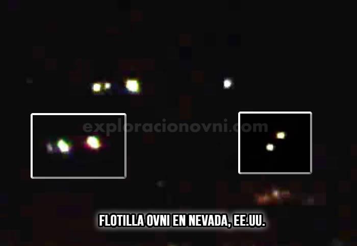 Flotilla ovni sobre Nevada, EE.UU.