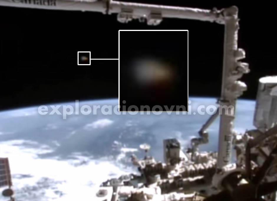 Avistamiento ovni desde la ISS. Crédito: NASA