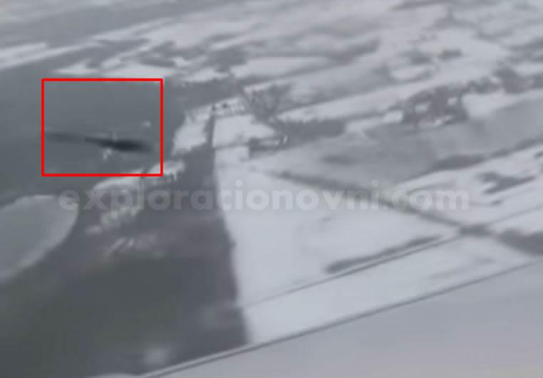Ovni grabado desde vuelo en Holanda - España