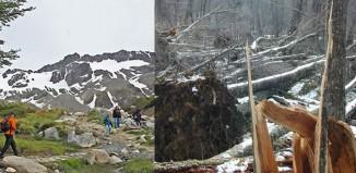 La caída de dos objetos desconocidos sobre Ushuaia, Tierra del Fuego