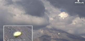 Posible objeto no identificado oval fotorafiado cerca de Volcán de Colima, México