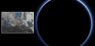 Sonda New Horizons observa cielo azul y hielo de agua en Plutón