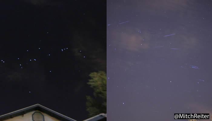 Flotilla de luces en movimiento vistas por varios residentes de California