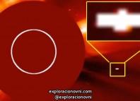 Nuevamente objeto con forma extraña fotografiado cerca del Sol