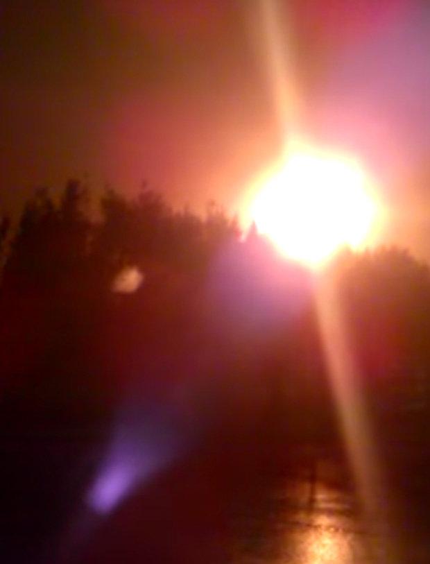 Los residentes se vieron alarmados por la gigantesca bola de fuego que apareció la noche del 31 de diciembre (2015)