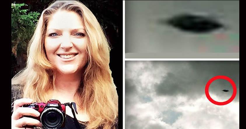 Impresionante OVNI fotografiado por una mujer en Bristol, Reino Unido