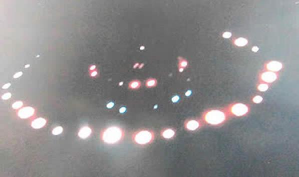Imagen del supuesto objeto volador fotografiado por Macdonald.