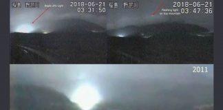 Observan misteriosas luces en el Monte Sakurajima, Japón