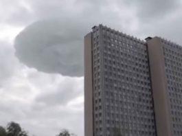 «Nube OVNI» causa pánico en Moscú, Rusia