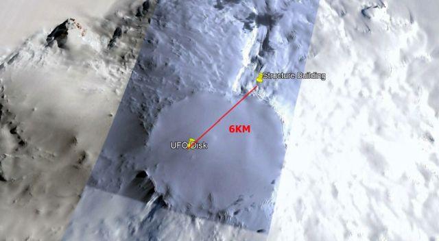 La distancia entre el disco y la posible base es de solo 6 km.