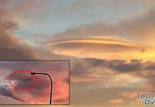 ¿Es esto un OVNI envuelto en una capa de nubes?