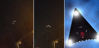 Graban en vídeo un OVNI triangular sobre Texas