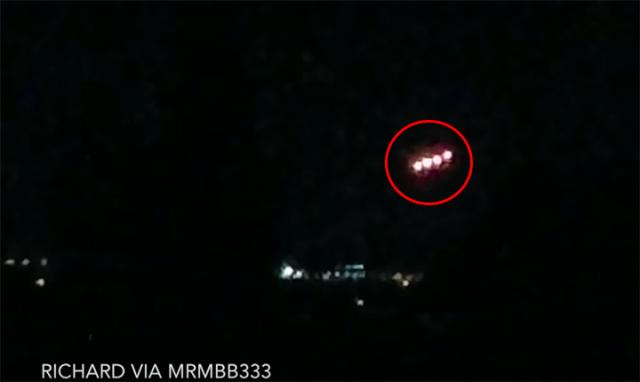 Captura de pantalla de una de las filas de 4 esferas de luz