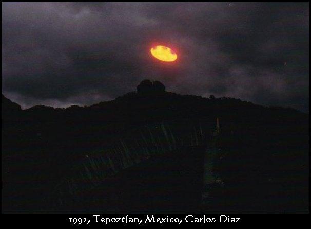 Ejemplo de un OVNI de luz, mencionado por Drunvalo Melchizedek