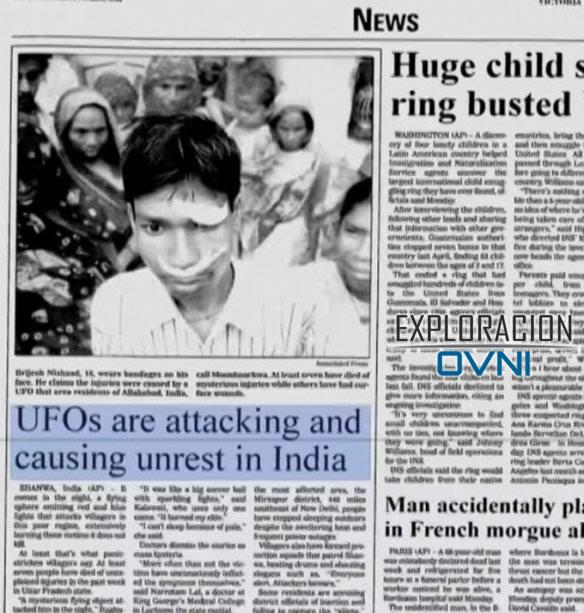 Ataque alienígena en India que causó más de 20 personas desaparecidas y 7 fallecidos en 2002