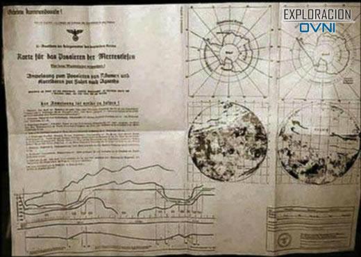 Encuentran misterioso mapa en la Antártida que señala la ruta para llegar al centro hueco de la Tierra