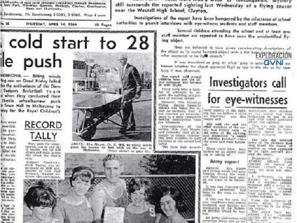El OVNI de Westall en 1966