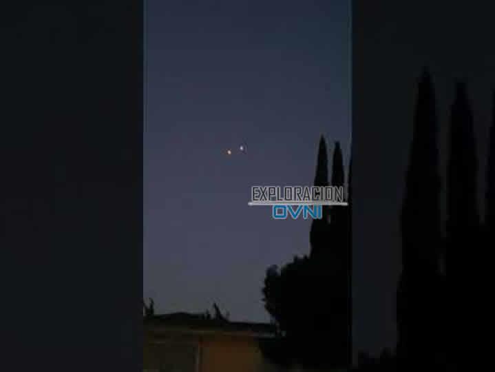Tres OVNIs brillantes fueron captados en California