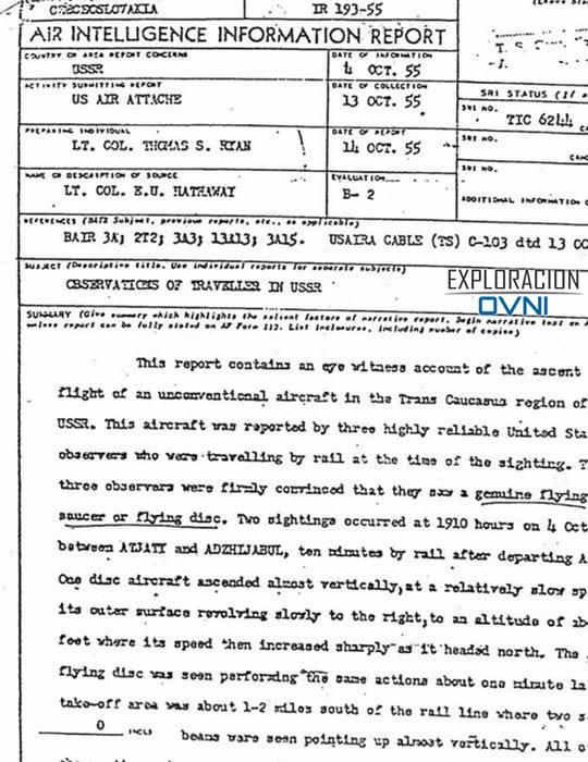 Archivo Desclasificado: Senador de EE.UU. observó varios OVNIs en 1954